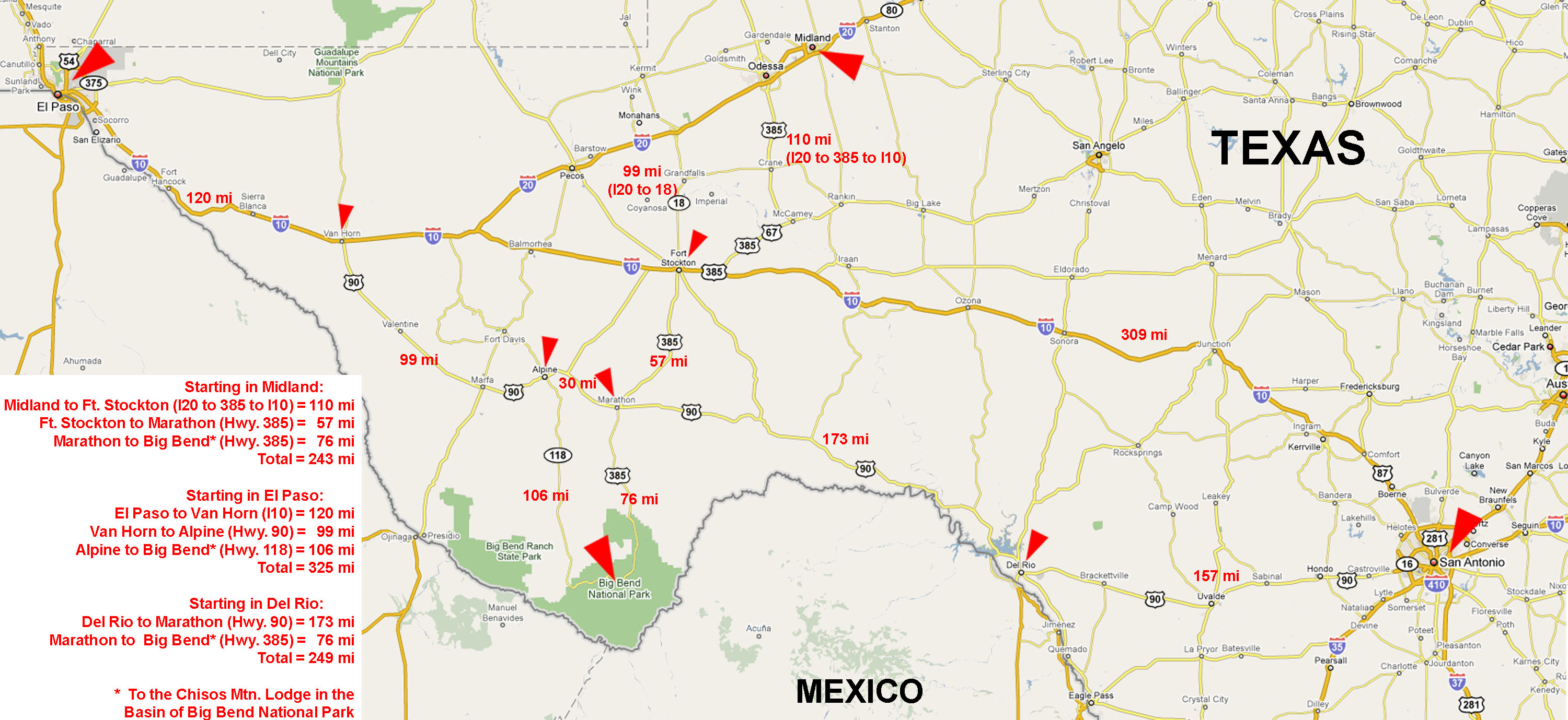 West Texas Road Map My Blog - Map of west texas